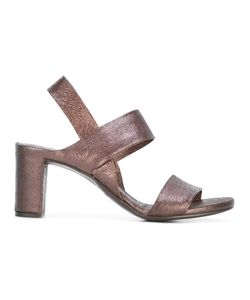 Roberto Del Carlo | Double Strap Block Heel Sandals 38