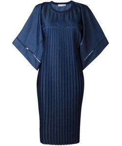 Veronique Branquinho | Oversized Pleated Dress 44 Polyester/Cotton