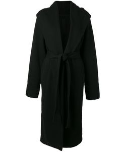 RICK OWENS DRKSHDW | Hooded Belted Cardi-Coat Small Cotton