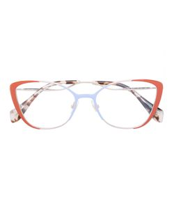 Miu Miu Eyewear | Cat Eye Contrast Colour Glasses Women