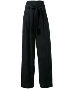 OFF-WHITE | Wide-Leg Pinstripe Trousers Xs