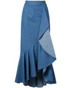 HELLESSY | Daffodil Ruffled Midi Skirt Women