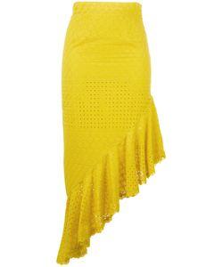 Daizy Shely | Pleated Trim Skirt 42 Cotton
