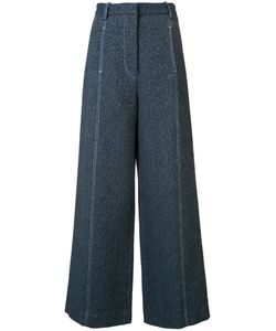 ROSETTA GETTY | Palazzo Pants 8 Cotton/Cupro/Linen/Flax