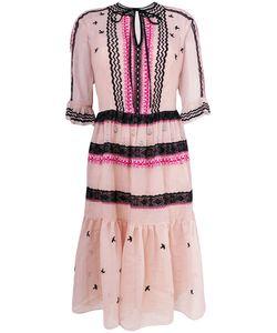 Temperley London   Платье С Кружевом И Вышивкой