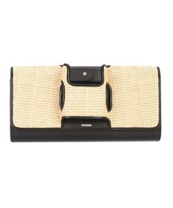 PERRIN PARIS | Woven Clutch Leather/Ramie