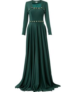 Alexis Mabille | Buttoned Square Neck Gown Women