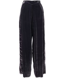 Aviù | Velvet Wide-Leg Trousers Women