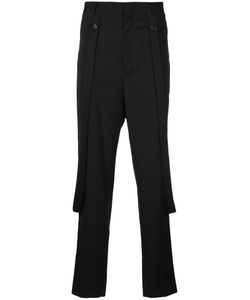 Consistence   Slim Fit Trousers With Hanging Suspenders Men