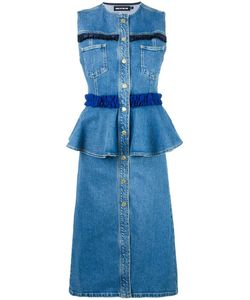House Of Holland | Frill Denim Dress 6 Cotton/Spandex/Elastane