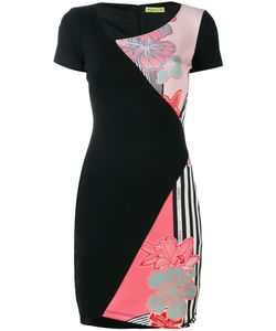 Versace Jeans | Contrast Printed Fitted Dress