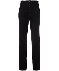 Manokhi   High-Waisted Trousers 36 Leather