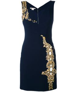 Antonio Berardi | Embellished Fitted Dress 40 Rayon/Spandex/Elastane/Silk