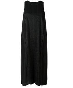 UMA WANG | Midi Tank Dress Small Linen/Flax/Polyamide/Spandex/Elastane/Cupro