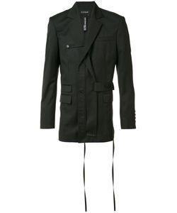 Icosae | Double-Breasted Blazer Large Cupro/Wool
