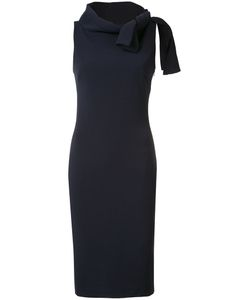 Badgley Mischka | Tied Neck Fitted Dress 16 Polyester/Spandex/Elastane