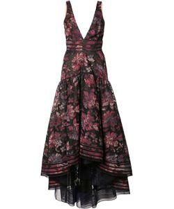 Marchesa Notte | Print Cascading Dress 0 Polyester