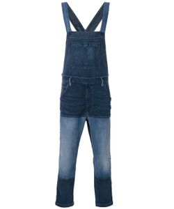 Diesel | Patched Denim Dungarees