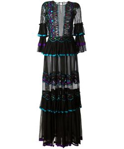 Alberta Ferretti | Embroidered Panel Dress
