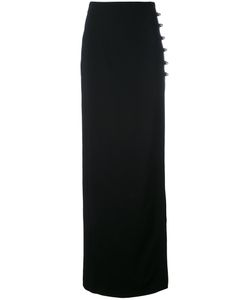 David Koma | Buttoned Side Slit Skirt