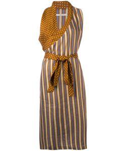 ERMANNO GALLAMINI | Striped Wrap Dress