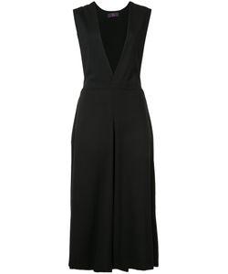 Y'S   V-Neck Shift Dress 2 Cupro/Polyurethane/Wool