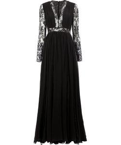 Zuhair Murad | Lace Insert Gown 42 Silk/Polyamide