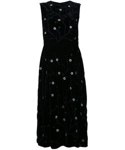 Jupe By Jackie | Embroidered Sleeveless Dress Silk
