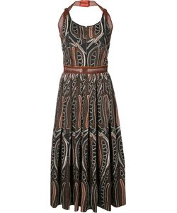 Sophie Theallet | Printed Gathered Midi Dress Size 4