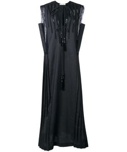 Veronique Branquinho   Sleeveless Pleated Dress 44 Cotton/Polyester