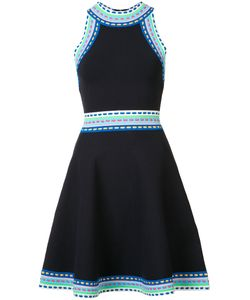 Milly | Contrast Trim Flared Dress