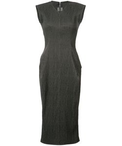 Rick Owens | Fitted Dress 38 Linen/Flax/Polyester/Spandex/Elastane