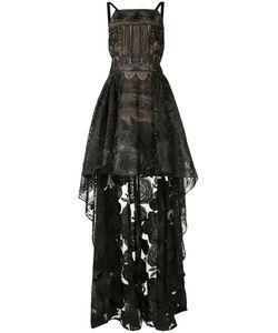 Marchesa Notte | Asymmetric Hem Dress 6 Nylon