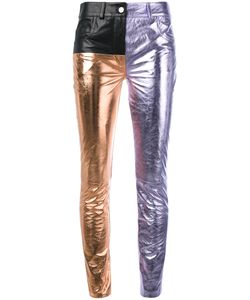 Haider Ackermann | Tri-Tone Leather Trousers