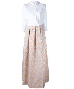 SARA ROKA | Jacquard Contrast Dress 42 Cotton/Polyamide/Spandex/Elastane/Acrylic