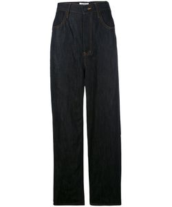 ENFÖLD | Enföld Wide-Leg Fla Trousers 40 Cotton/Linen/Flax