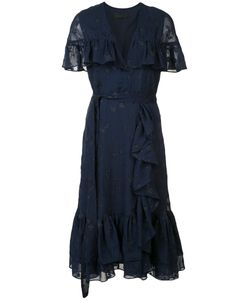 Co | Belted Ruffle Trim Dress Size Small