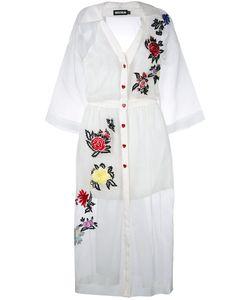 House Of Holland | Sheer Shirt Dress 8 Silk/Polyester/Viscose