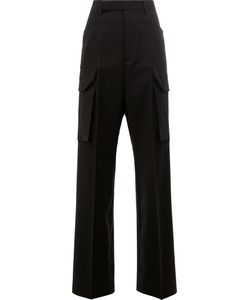 Rick Owens | Straight Trousers 42 Spandex/Elastane/Virgin Wool