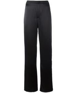 Lanvin | Striped Wide Leg Trousers 40 Acetate/Viscose/Polyester/Wool