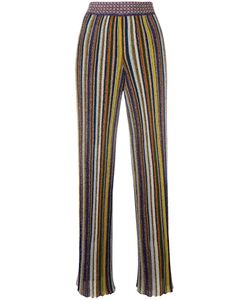 Missoni | Striped Pleated Trousers 44 Polyester/Cupro/Viscose