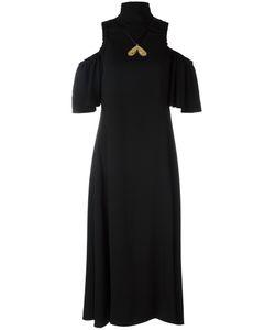 Ellery | Cut-Off Shoulder Dress 10 Acetate/Polyester