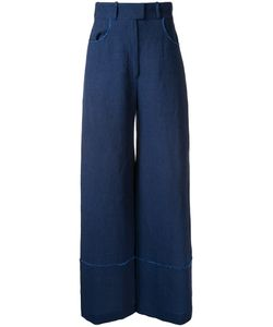Martin Grant | Raw Edge Detail Trousers 42 Linen/Flax