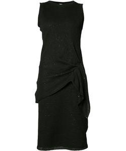 Brunello Cucinelli | Draped Waist Dress Medium Linen/Flax/Silk