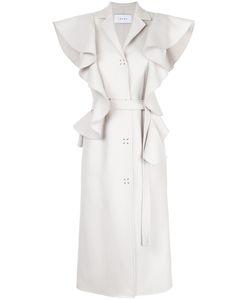 Irene | Ruffle Tailored Long Waistcoat Women