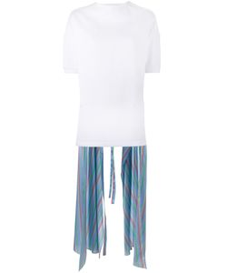 ESTEBAN CORTAZAR | Stripe Asymmetric Top 42 Silk/Cotton/Polyamide