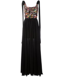 Elie Saab | Pleated Trim Dress 38 Silk/Polyamide/Cotton/Silk
