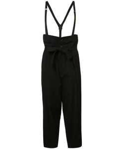Y'S | Suspender Detail Belted Trousers 2 Cotton/Viscose