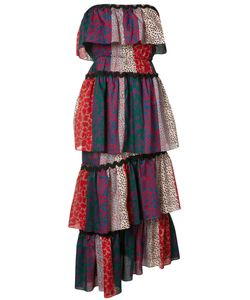 Sonia Rykiel | Strapless Multi-Print Dress