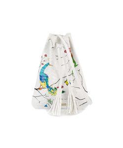 Elisabeth Weinstock | Graffiti Painted Drawstring Bag Leather/Watersnake